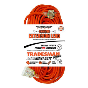 ULTRACHARGE UR240/20T TRADESMAN 20M HEAVY DUTY EXT LEAD