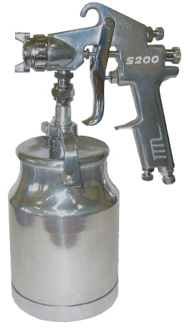 KC Tools 30203 - SPRAY GUN 2.0mm FLUID NOZZLES (S200 on handle & spare 1.5mm nozzle)