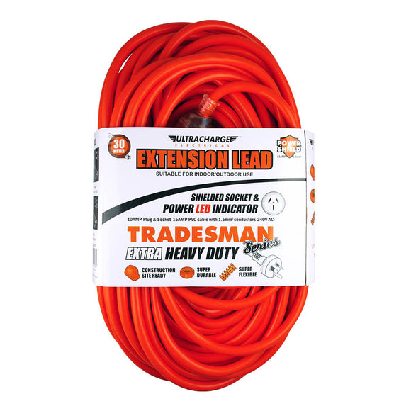 ULTRACHARGE UR240/30T TRADESMAN 30M HEAVY DUTY EXT LEAD