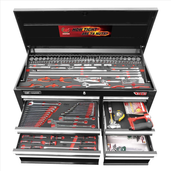 Jimy Tools 41.TB01-10KWU(B) 215 Piece 7 Drawer 42