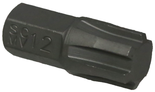 T&E 5181310mm Hex Ribe Insert Bit (13mm)