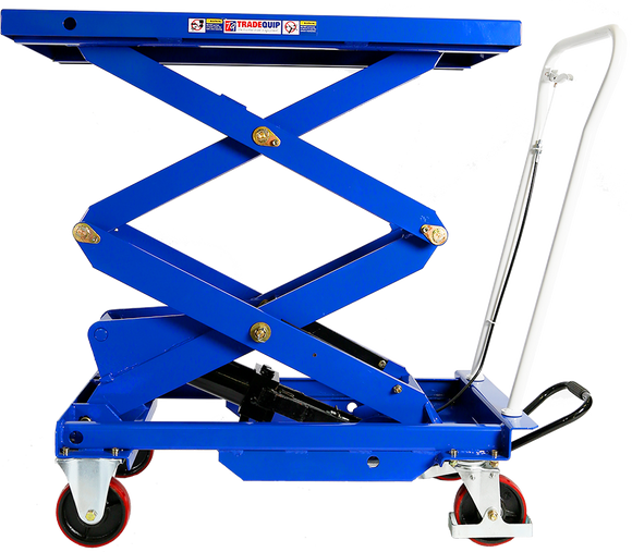 Tradequip 6007T Scissor Lift Workshop Trolley HIGH LIFT