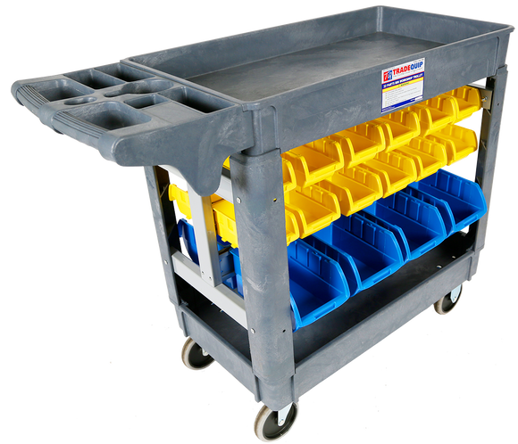 Tradequip 6046 Workshop Trolley 32 Parts Bins
