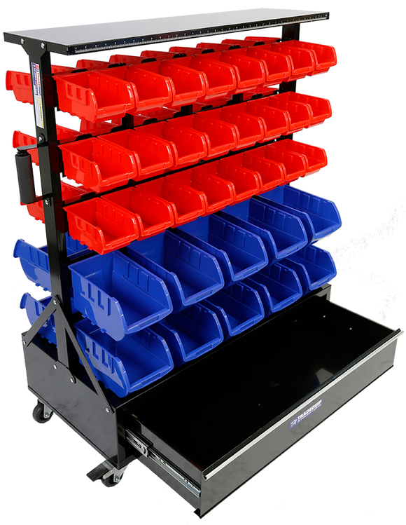 Tradequip 6050 Parts Storage Bin Rack 68Bin