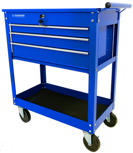 Tradequip 6052 Workshop Tool Trolley 4 Drawer Lockable Top