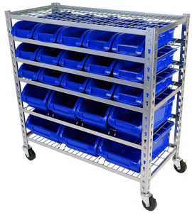 Tradequip 6053 Parts Storage Bin Rack 22Bin
