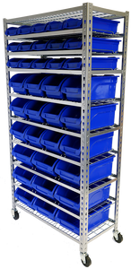 Tradequip 6054 Parts Storage Bin Rack 36Bin