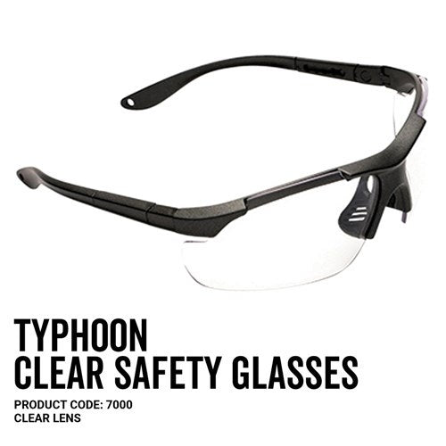 Pro Choice 7000 Typhoon Safety Glasses Clear Lens