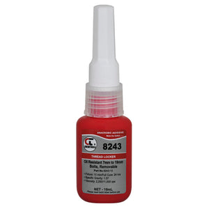 CHEMTOOLS 8243-10 Threadlocker 10ml Med Strength Oil Resistant