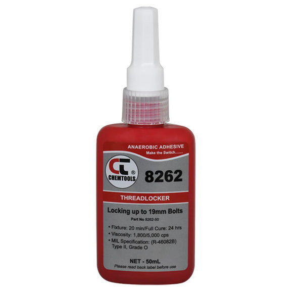 CHEMTOOLS 8262-50 Threadlocker 50ml High Strength
