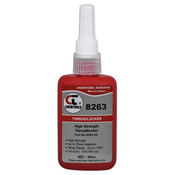 CHEMTOOLS 8263-50 Threadlocker 50ml High Strength Oil Resistant