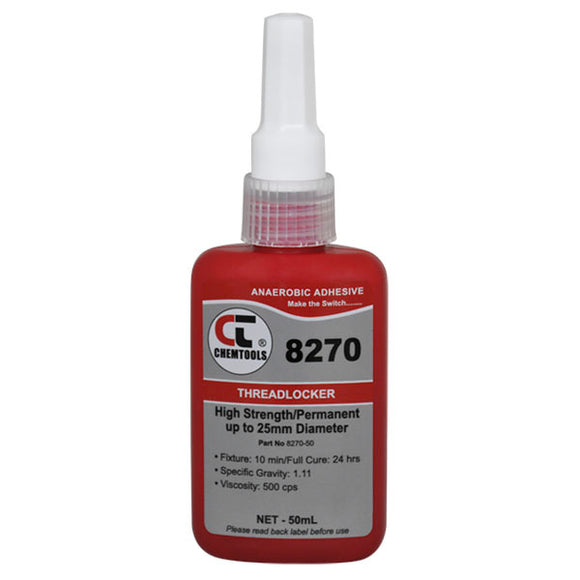 CHEMTOOLS 8270-50 Threadlocker 50ml High Strength Low Viscosity