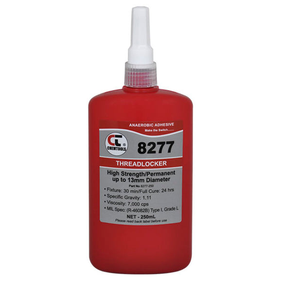 CHEMTOOLS 8277-250 Threadlocker 250ml High Strength