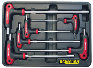 KC Tools A13070 6 PIECE T HANDLE HEX KEY SET