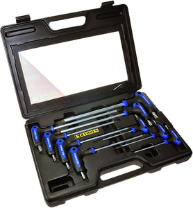 KC Tools A13084 9 PIECE T HANDLE STAR & TAMPERPROOF KEY SET