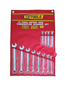 KC Tools A13336 12 PIECE METRIC COMBINATION SPANNER SET