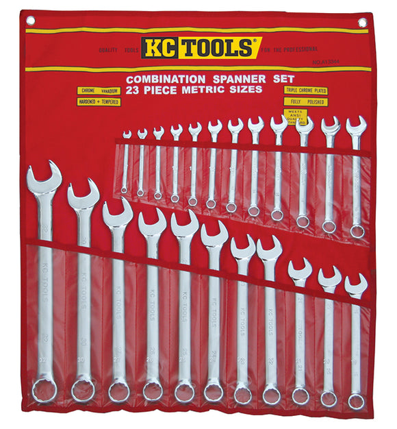 KC Tools A13344 23 PIECE METRIC COMBINATION SPANNER SET