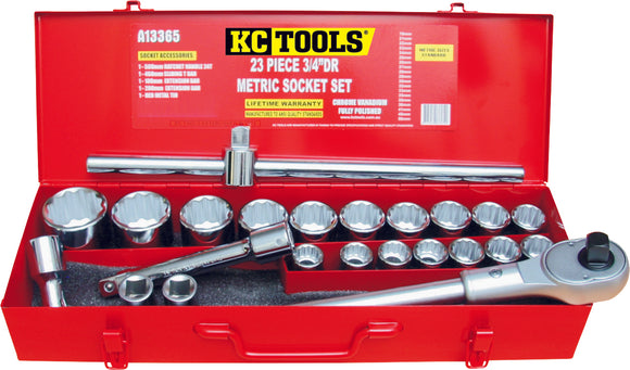 KC Tools A13365 23 PIECE 3/4