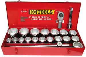 "KC Tools A13367 22 PIECE 1"" DRIVE AF SOCKET SET"