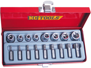 "KC Tools A13370 17 PIECE 3/8"" DRIVE BIT & E SOCKET SET"