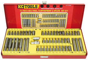 Kc Tools A13390 54 PIECE 10MM SHANK BIT SET