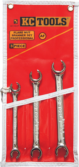KC Tools A13537 3 PIECE AF FLARE NUT SPANNER SET