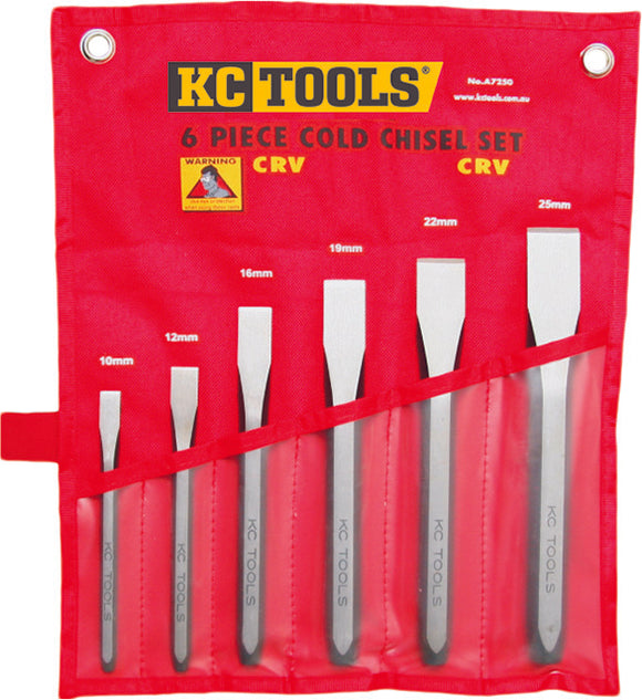KC Tools A7250 6 PIECE COLD CHISEL SET