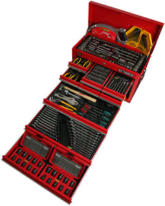 KC TOOLS ATK960 244 Piece Metric & AF Tool Kit in, 9 Drawer Tool Box & 7 Drawer Roll Cabinet