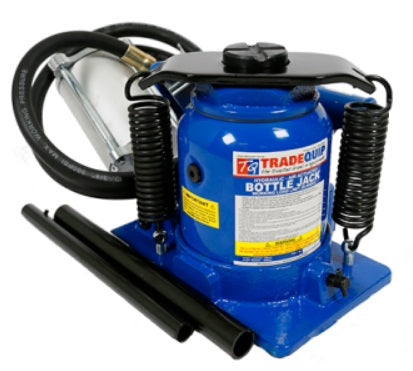 Tradequip BJ20TAS 20,000kg Squat Bottle Jack - Air Hydraulic