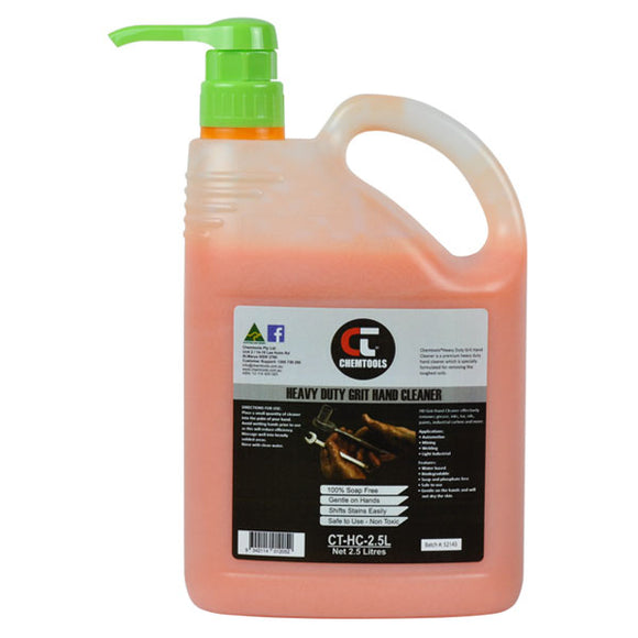 Chemtools CT-HC-2.5L Citra Grit Hand Cleaner 2.5L Pump Bottle