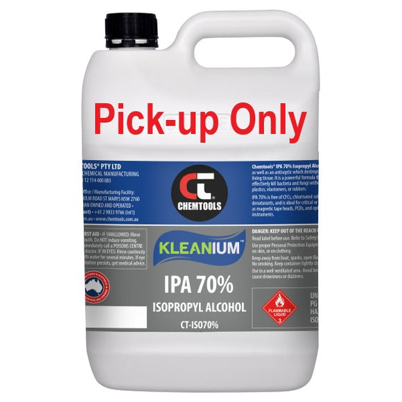 Chemtools CT-ISO70%-5L Kleanium™ 70% IPA Isopropyl Alcohol 5 Litre