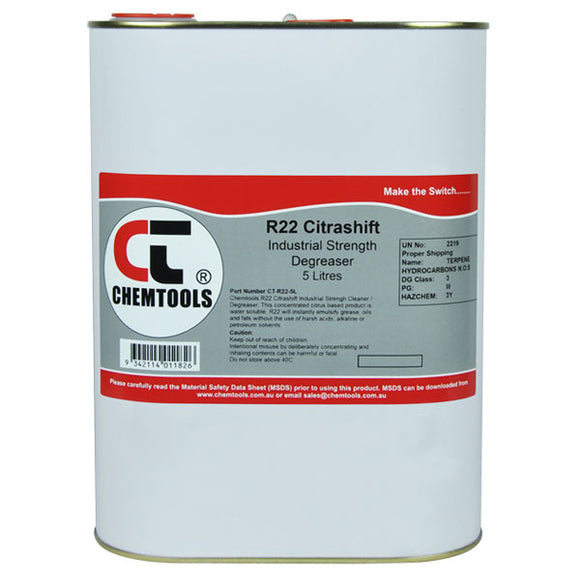 Chemtools CT-R22-5L CitraShift Cleaner & Degreaser 5 Litre
