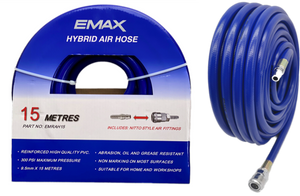 EMAX EMRAH15 15 MTR HYBRID AIR HOSE WITH NITTO STYLE FITTINGS