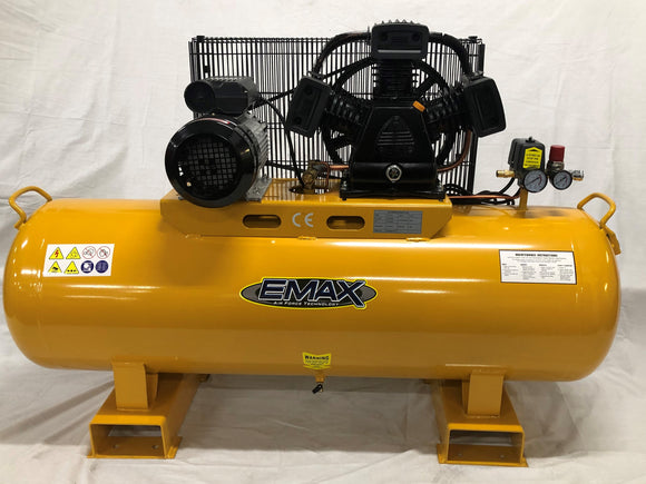 EMAX EMX3160 3HP Belt Drive Compressor Heavy Duty Industrial Workshop Series