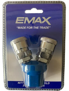 EMAX ES2WAY 2-WAY AIR QUICK COUPLER (NITTO STYLE)