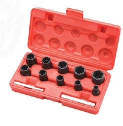 "KC Tools AOK ITSK4-12 12PC 1/2"" & 3/8"" DR TWIST SOCKET SET"