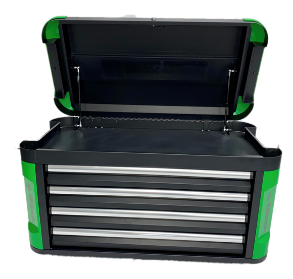 MONSTER TOOLS MBTB4L Large 4 Drawer Tool Box with Bumper. Professional Quality