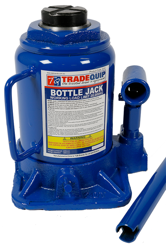 Tradequip 2016 20,000kg Bottle Jack - Squat