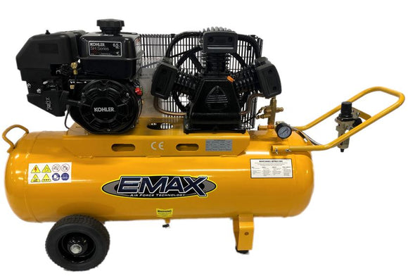 EMAX TB-65100PK 6.5HP Kohler Petrol Compressor Heavy Duty Industrial Workshop Series