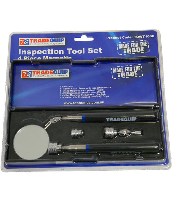 Tradequip TQWT1666 Inspection Tool Set 4 Piece