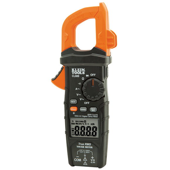Klein CL600 Digital Clamp Meter - AC, Auto-Ranging, 600 A