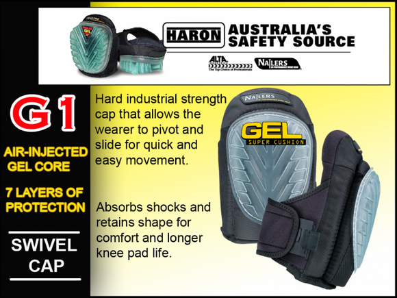 G1 CUSHION NAILERS GEL SUPER Knee Pads