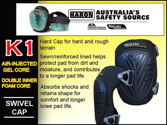 K1 NAILERS SWIVEL CAP KNEE PADS