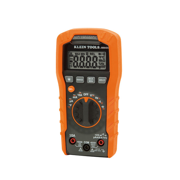 Klein MM400 Digital Multi-meter, Auto-Ranging, 600 V