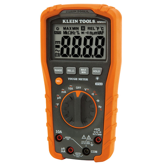 Klein MM600 Digital Multi-meter - Auto-Ranging, 1000 V