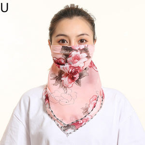 Floral Scarf Face Mask