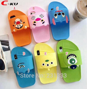 Slippers iPhone Cover - 3D Soft Silicon