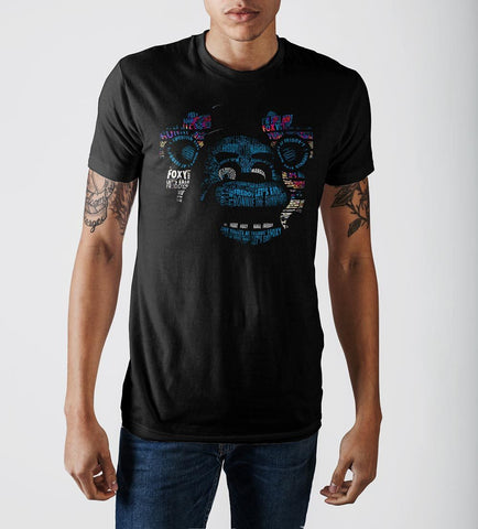 Five Nights at Freddy's Bonnie Posterize Print Black T-shirtFive Nights at Freddys - MERCHMILLA, Official nerd Merch lives here