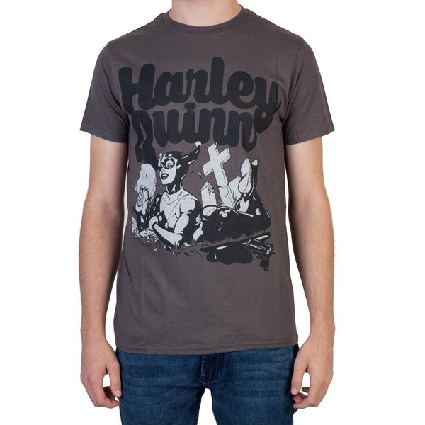 Heroes & Villains Harley Charcoal T-ShirtWarner Bros - MERCHMILLA, Official nerd Merch lives here