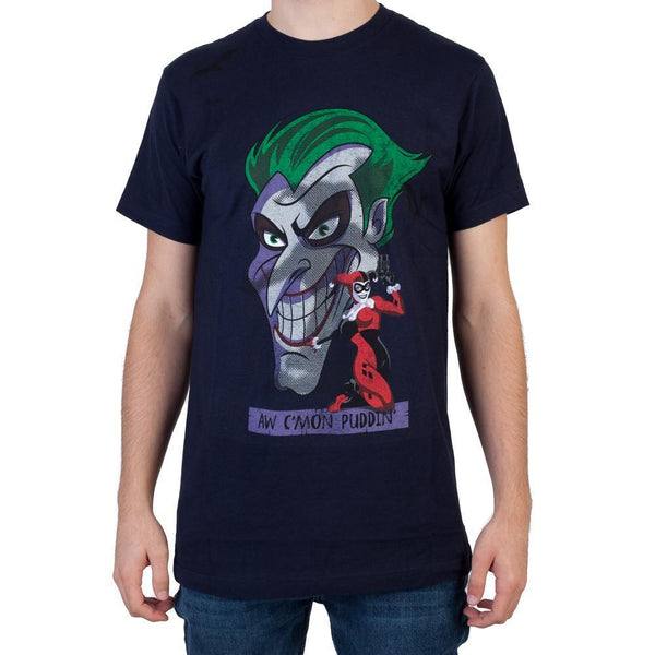 Heroes & Villains C'Mon Puddin T-ShirtWarner Bros - MERCHMILLA, Official nerd Merch lives here